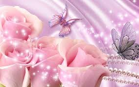 Roses And Butterflies - pink roses and butterflies background 321664 jpg 800 500 pink