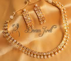 beautiful stone necklace images Buy beautiful polki stone elegant necklace set dj18628 online JPG