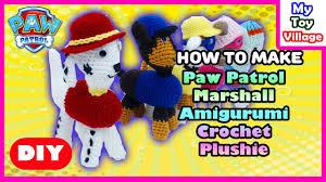 paw patrol marshall diy amigurumi crochet plushie chase skye