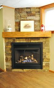 gas fireplace stone mantel ventless with surround impressive ideas