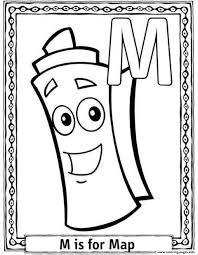 m is for map free alphabet s0fc7 coloring pages printable