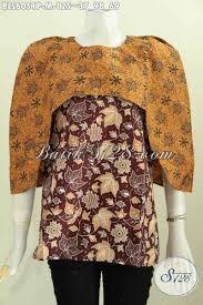 desain baju batik halus batik blus wanita model terkini baju batik desain trendy bahan