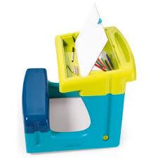 bureau petit ecolier smoby bureau petit ecolier smoby bleu tableau et pupitre achat prix