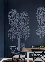 wall tree stencil wall stencil large weeping willow tree home