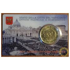 eurocoin eurocoins 50 cent vatican 2015 official coin card no 6 bu