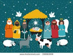 traditional vector background nativity stock vector