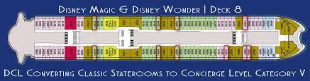 disney magic and disney wonder staterooms converting to concierge