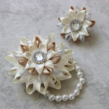 corsages and boutonnieres for prom wrist corsage and boutonniere prom flowers ivory corsage