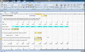 Discounted Flow Analysis Excel Template Excel Flow Analysis With Irr And Goal Seek