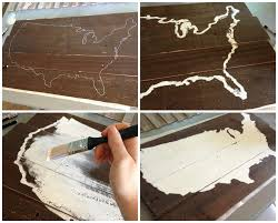 home wall decoration wood diy united states map wall décor wooden rustic sign and tutorial