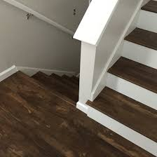 Vinyl Floor Basement Luxury Vinyl Plank On Stairs With White Risers Vinyl Floors