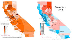Map Of Orange County Ca Surprising Patterns In Geography Of Crime In California Geocurrents