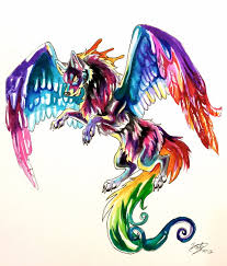 colorful flying wolf tattoo lucky978 deviantart