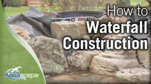aquascape u0027s step by step waterfall construction youtube