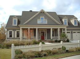 exterior simple grey and bright touches as exterior house paint