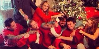 family christmas miley cyrus family had their annual christmas fight