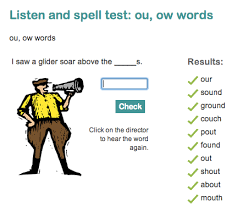 ou and ow phonics ou and ow games and worksheets for eyfs