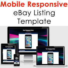 ebay template design ebay template responsive listing professional auction html mobile