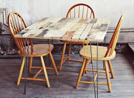 Hairpin Leg Dining Table Pallet Dining Table With Hairpin Legs 99 Pallets