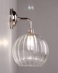 lenham traditional ribbed globe bathroom wall light