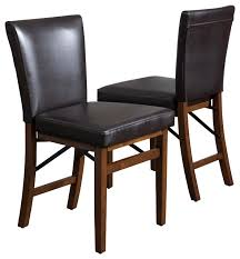 Folding Dining Chairs Padded Padded Folding Dining Chairs Rosalynn Brown Leather Folding Dining