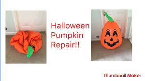 repairing halloween inflatable youtube