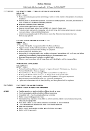 sle of resume warehouse associates resume sles velvet