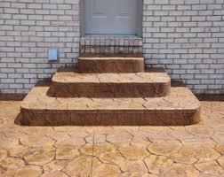 stamped concrete porch mi stamped concrete steps mi decorative