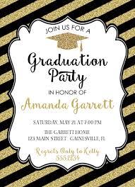 black and gold graduation invitation gold graduation invitation