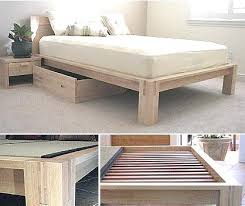 Raised Platform Bed Frame Cheap Platform Bed Frame Headboards Intended For High Beds