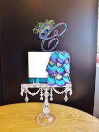 Peacock Themed Wedding Rhinestone Peacock Theme Wedding Cake Topper Monogram Via Etsy