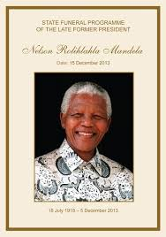 funeral program covers nelson mandela funeral program cover program here