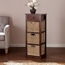 Storage Bookshelves With Baskets by Storage Shelves With Baskets Shelf Organizer 3 Seagrass Bins
