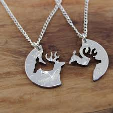 Buck And Doe Couples Necklace Best Half Dollar Necklace Products On Wanelo