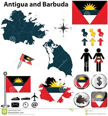 Antigua Map Map Of Antigua And Barbuda Stock Photos Image 31325313