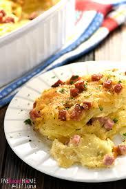 cheesy scalloped potatoes and ham recipe lil