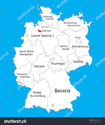 Balkan States Map by Bremen State Map Germany Vector Map Stock Vector 528630514