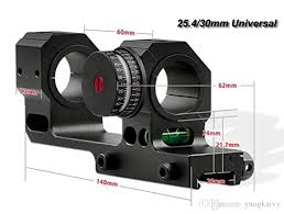 best scope rings images 2018 one piece scope mount rings with angle indicator and scope jpg