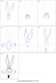how to draw wile e coyote face printable step by step drawing