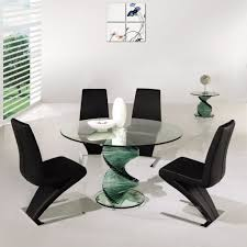 Unique Dining Room Chairs by Dining Swirl Glass Dining Table Amazing Unique Modern Room