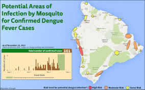 Map Of Hawaii Island Dengue Cases Pass 100 New Risk Map Published