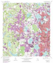 Florida Orlando Map by Orlando West Topographic Map Fl Usgs Topo Quad 28081e4