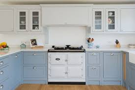 best white paint for shaker cabinets beautiful blue kitchen cabinet ideas