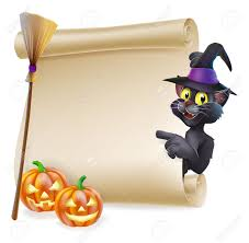 cat in the hat halloween a halloween black cat in witch u0027s pointed hat pointing at the