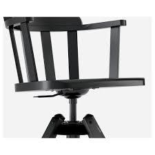Ikea Office Swivel Chair Feodor Swivel Chair With Armrests Black Ikea