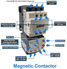 contactor wiring guide for 3 phase motor with circuit breaker for