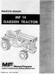 massey ferguson mf14 mf 14 garden tractor parts manual 651 320 m94