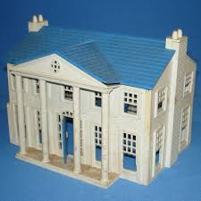 plasticville usa vintage o gauge train scenery white blue colonial