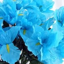 iris flowers 60 artificial silk iris flowers turquoise efavormart