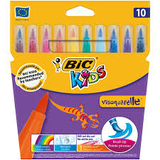 feutres de coloriage bic kids visaquarelle x10 bic bic la boîte